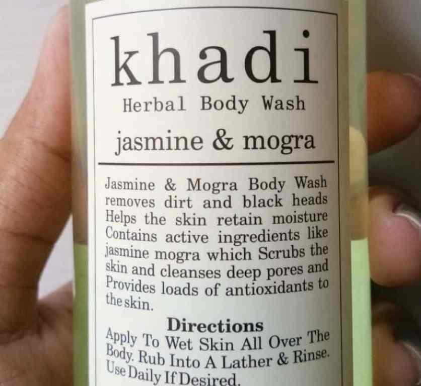 Khadi Jasmine and Mogra Herbal Body Wash Review 1