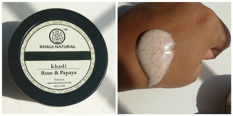 Khadi Natural Face Scrub Rose and Papaya