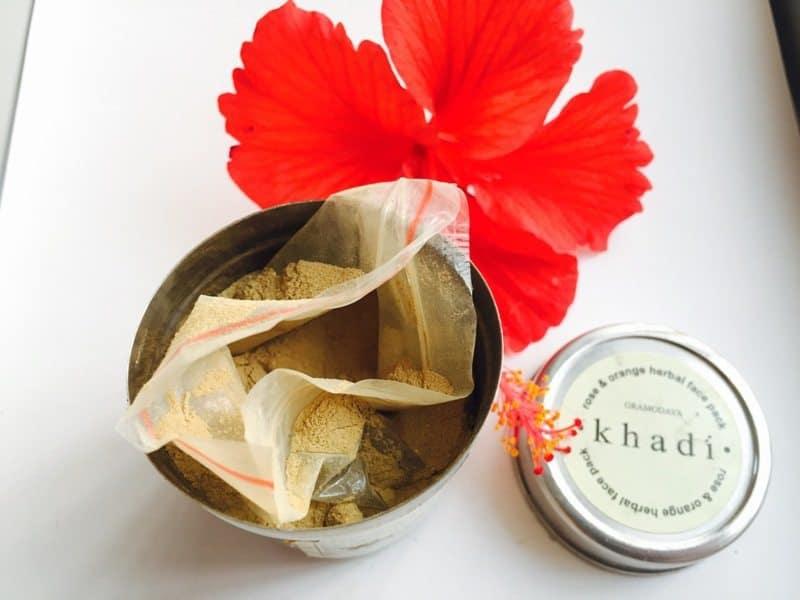 Khadi Natural Rose & Orange Herbal Face Pack 4