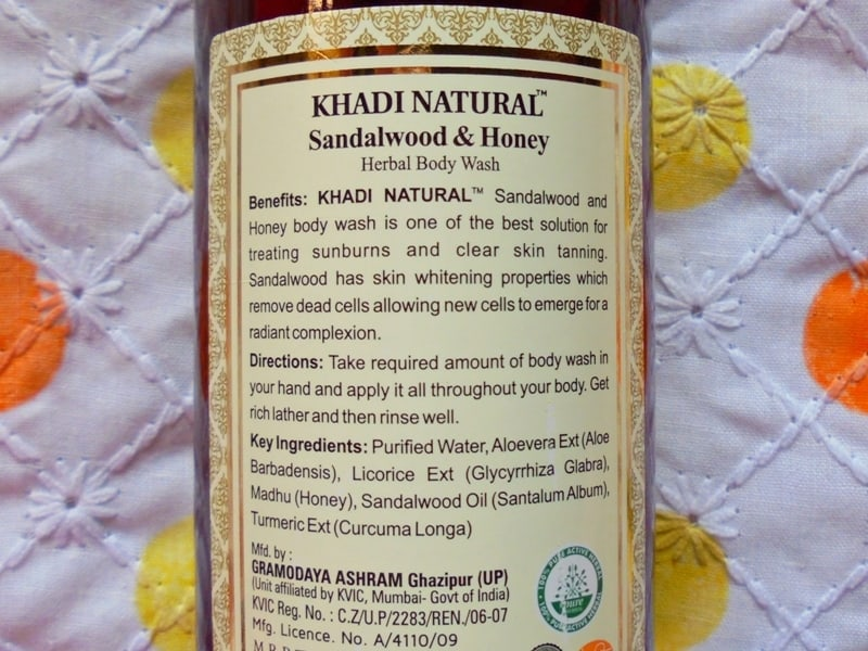 Khadi Natural Sandalwood & Honey Body Wash Review 1