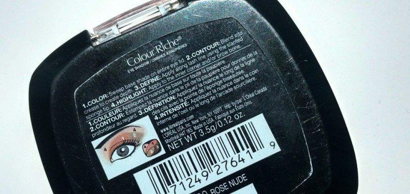 Loreal Eyeshadow Palette Rose Nude 2
