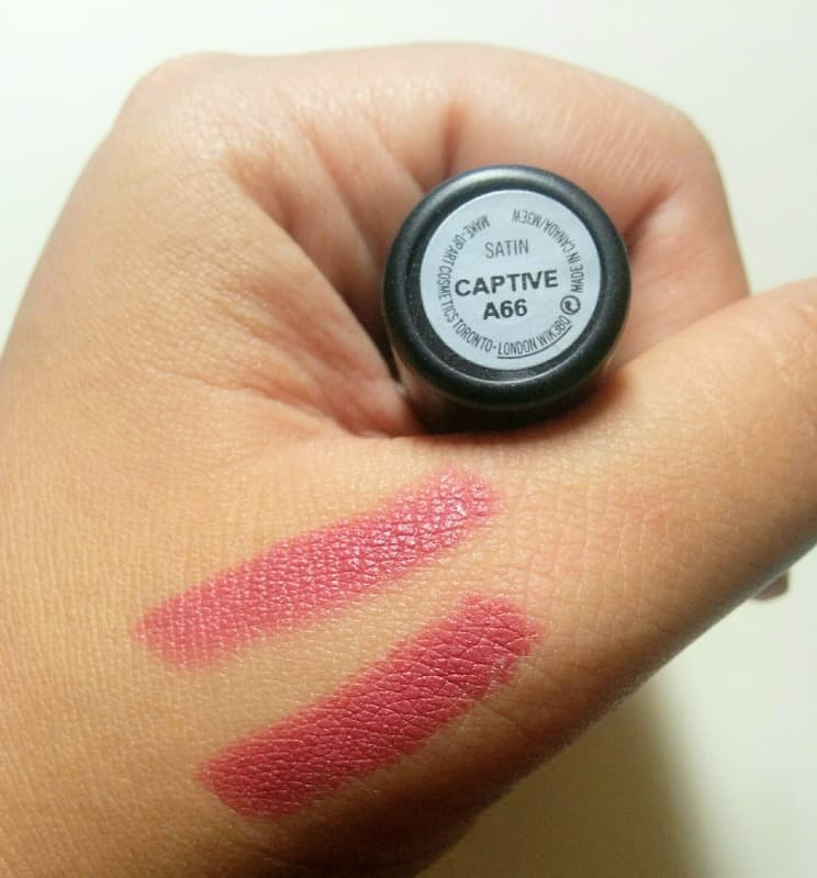 MAC Captive Satin Lipstick 4