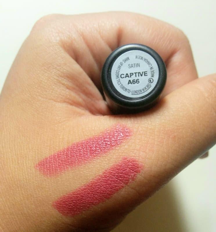 MAC Captive Satin Lipstick 4