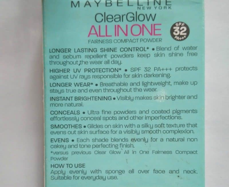 Maybelline Clear Glow All In One Fairness Compact Powder 4