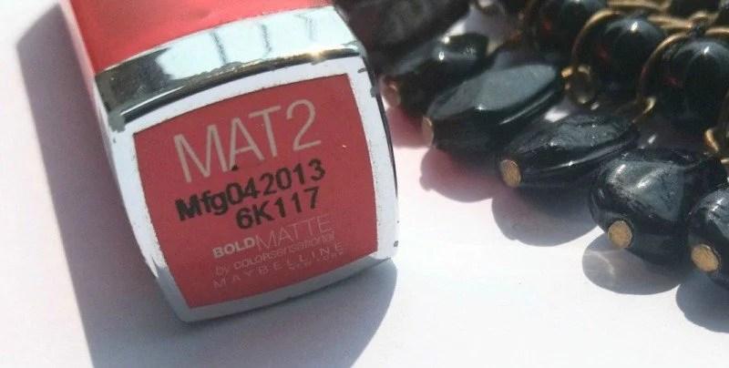 Maybelline Color Sensational Matte Mat 2 Review 1
