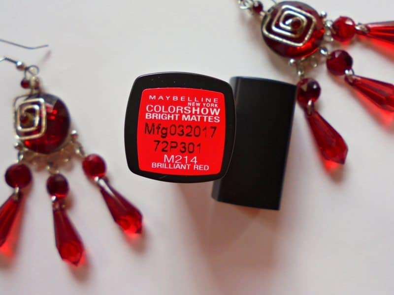 Maybelline Colorshow Bright Mattes Lipstick Brilliant Red M214 4