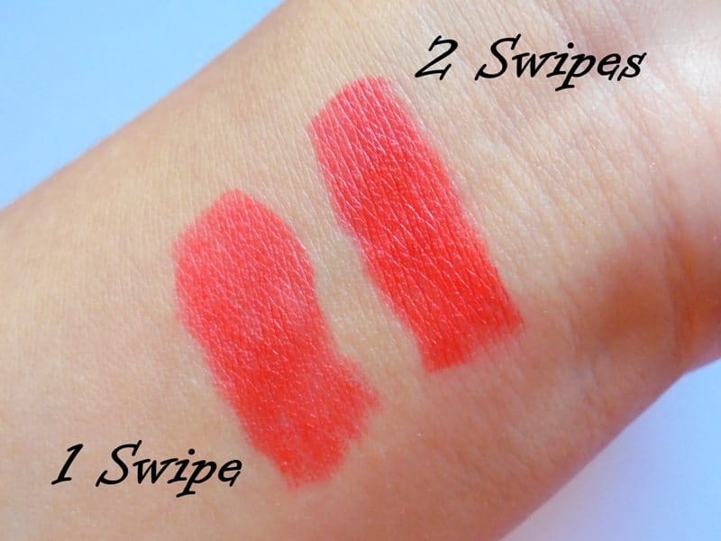 Maybelline Blazing Orange Colorshow Bright Mattes Lipstick  4