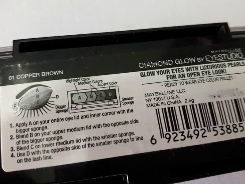 Maybelline Diamond Glow Eyeshadow by Eyestudio 01 Copper Brown 3