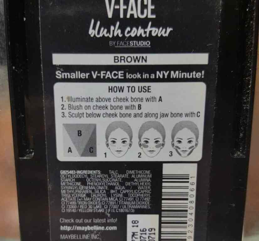 Maybelline New York V-Face Blush Contour Brown by Face Studio Review 6