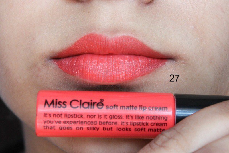 Miss Claire Soft Matte Lip Creams Miss Claire Soft Matte Lip Cream 01 , 05 ,07 , 16A , 17 ,27 3