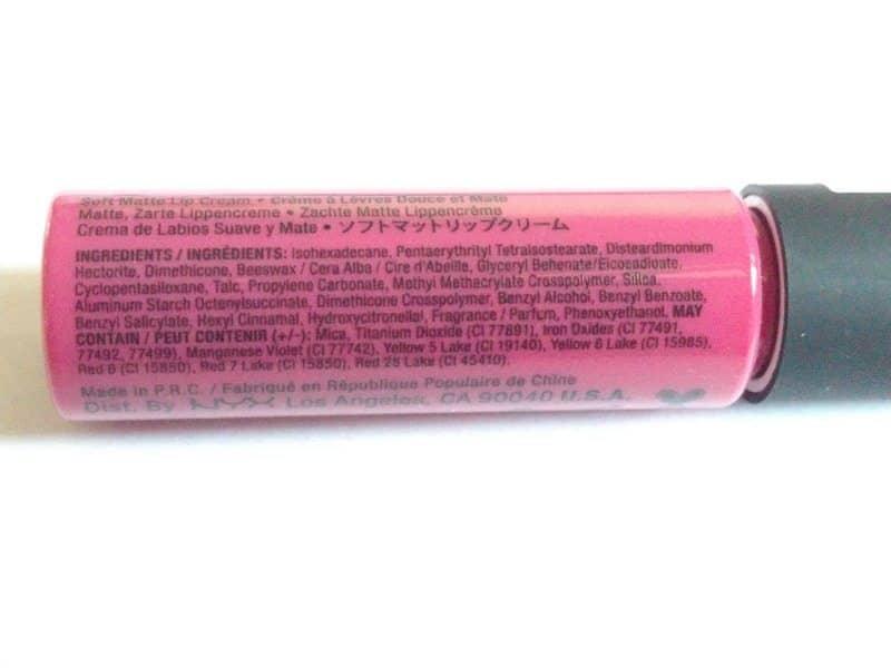 NYX Prague Soft Matte Lip Cream  4