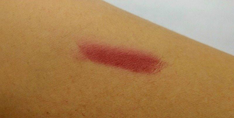 NYX full throttle lipstick Locked Shade 10 Review 2