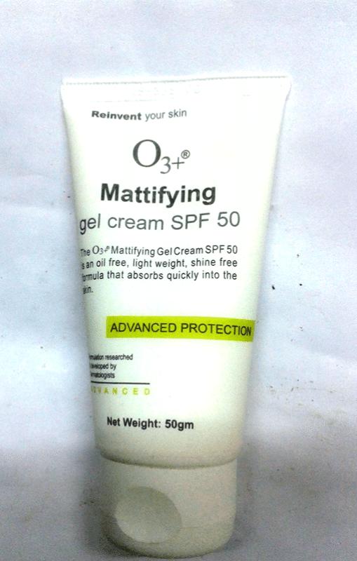 O3+ Mattifying Gel Cream SPF 50 1