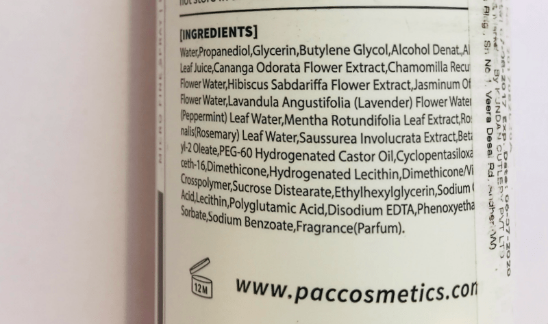 Pac Micro Finish Makeup Fixer 1