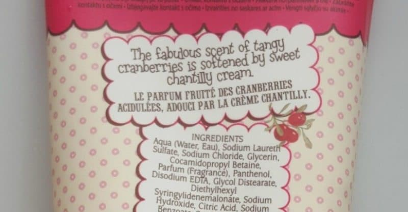 Patisserie de Bain Cranberries & Cream Bath and Shower Crème Refreshes you Inside Out 2