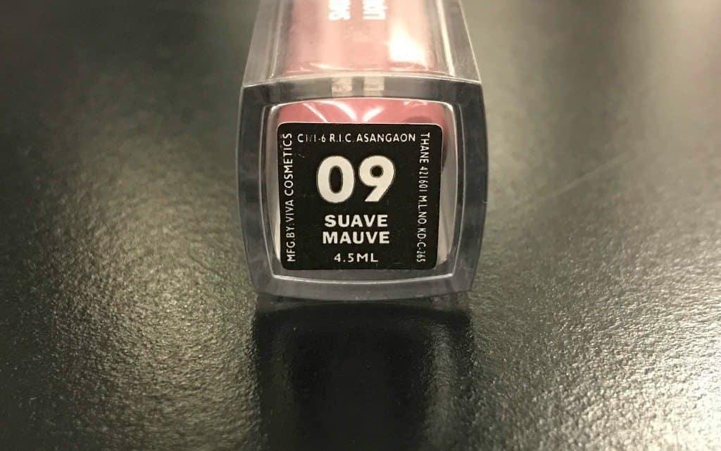 Sugar Smudge Me Not Liquid Lipstick 09 Suave Mauve Review  5