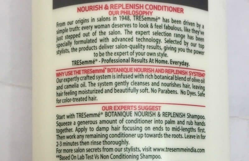 TRESemme Botanique Nourish and Replenish Shampoo and Conditioner Review