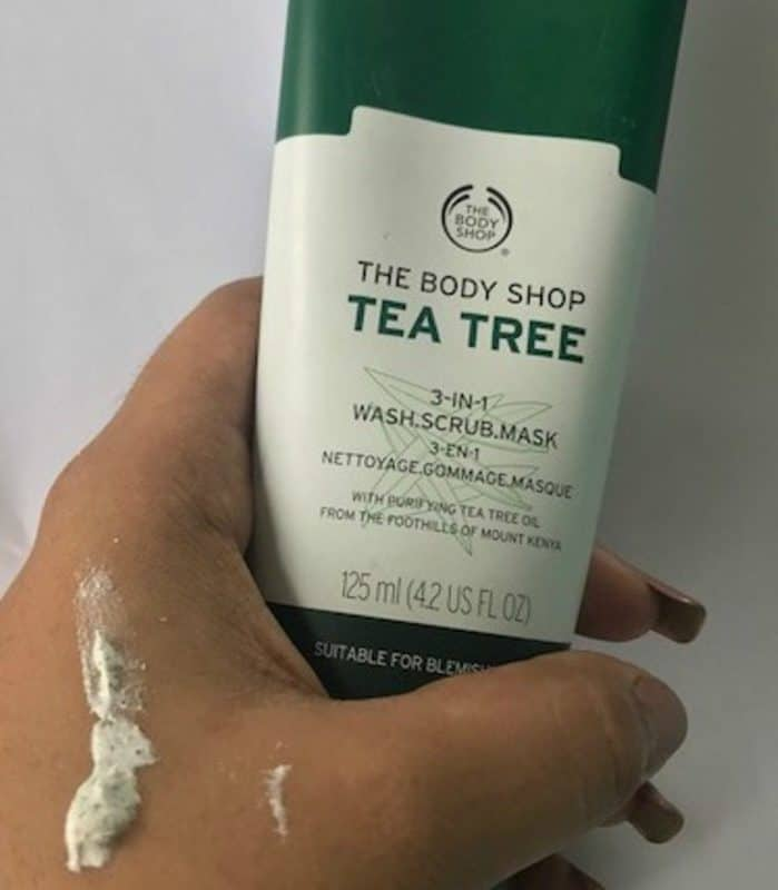 The Body Shop Tea Tree 3-In-1 Wash Scrub Mask Review 4