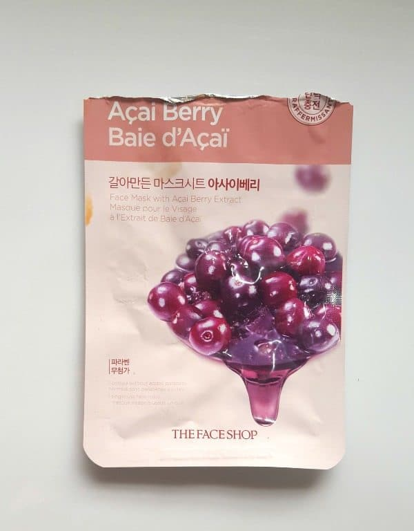 The Face Shop Real Nature Acai Berry Face Mask 1