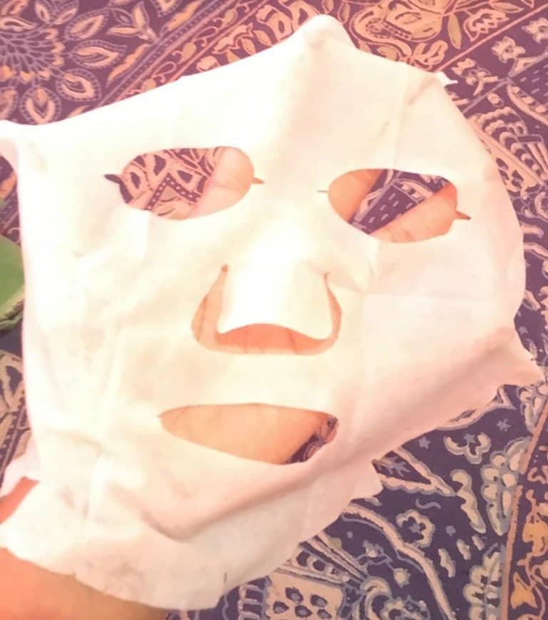 The Face Shop Real Nature Lotus Sheet Mask Review 5