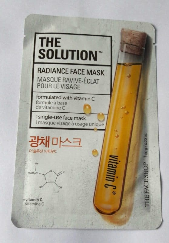 The Face Shop The Solution Nourishing Face Mask