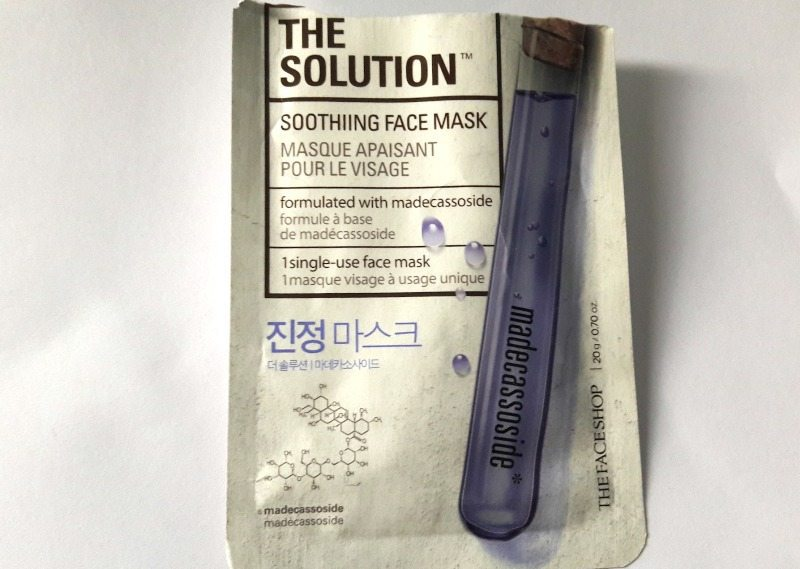 The Face Shop The Solution Soothing Face Mask