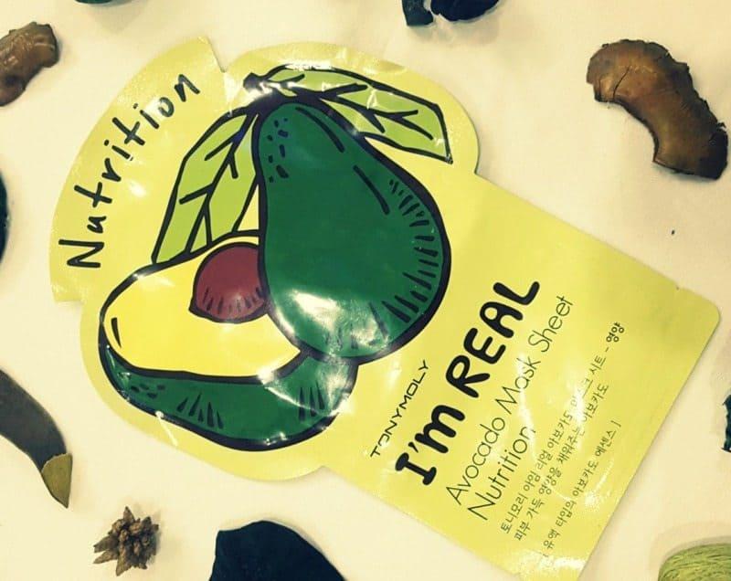 Tony Moly I'm Real Avocado Mask Sheet Nutrition Review 1
