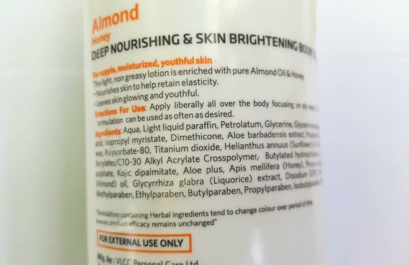 VLCC Almond Honey Deep Nourishing and Skin Brightening Body Lotion 2