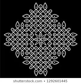 What are Rangoli Designs with Dots 5