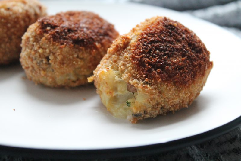Parmesan and Mushroom Arancini with Taleggio Filling