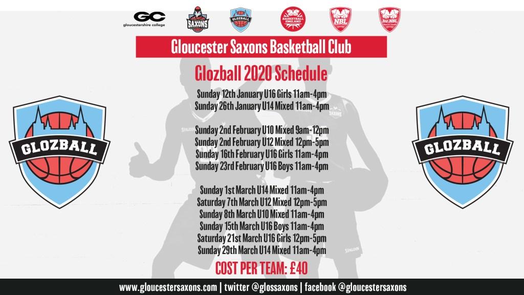 Glozball 2020 Schedule