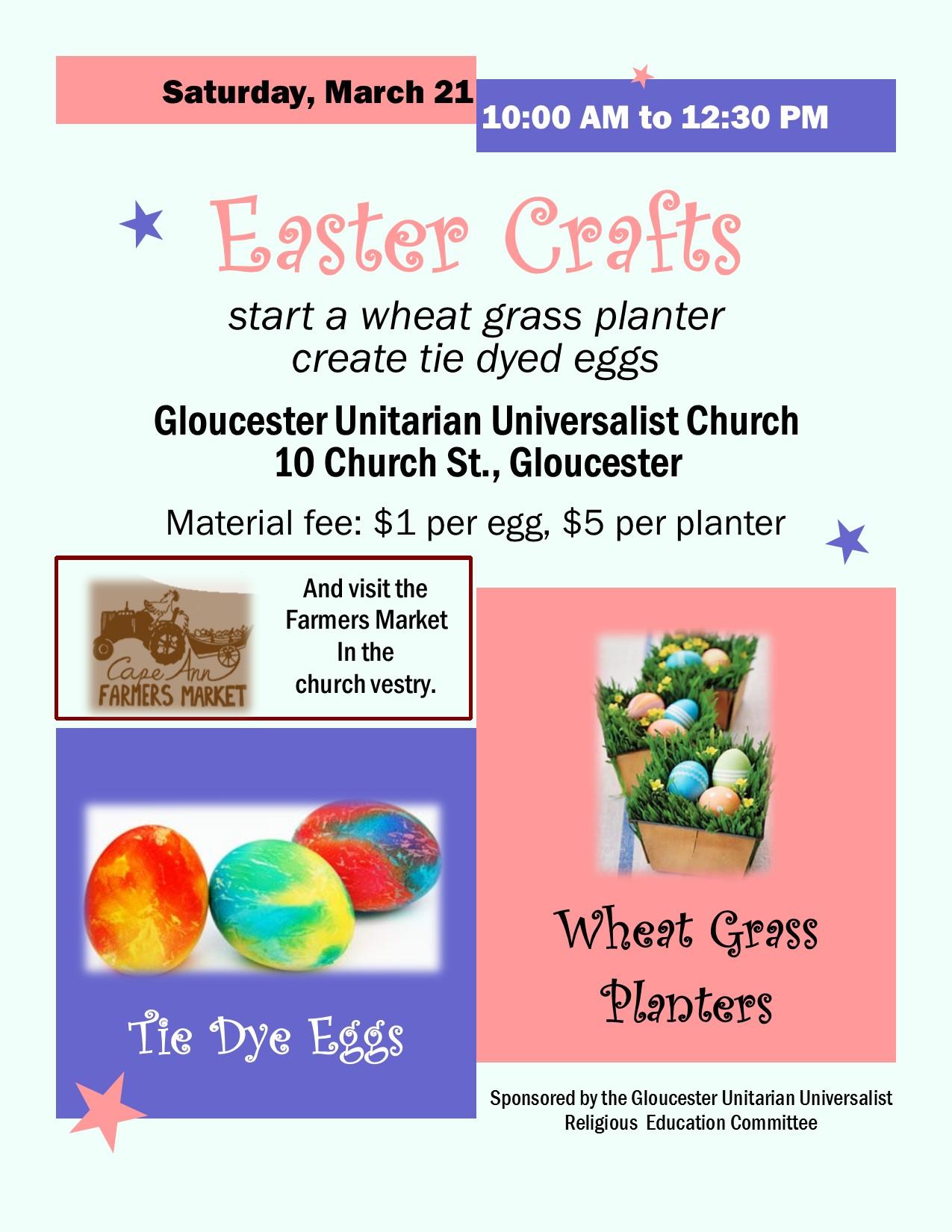 Easter Crafts Flyer Gloucester Unitarian Universalist Church