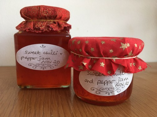 sweet chilli and pepper jam