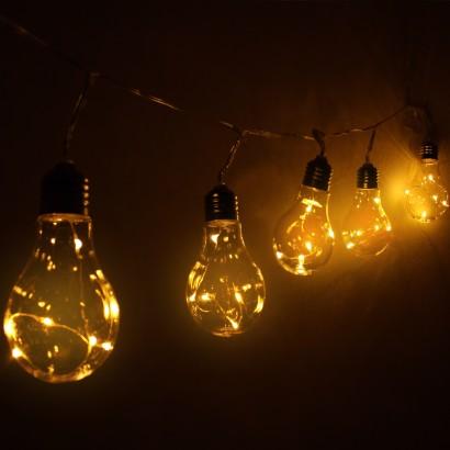 Solar Light Bulb Warm White Fairy Lights