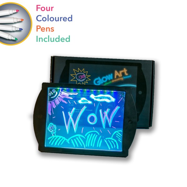 drawing board - Black Glow Art neon lighting effect