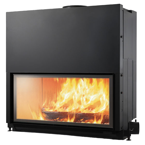 Edilkamin Flat 120 13kw Wood Burning Inset Stove 163