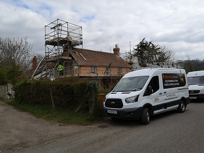 Installing a chimney flue liner in Wrantage, Taunton.