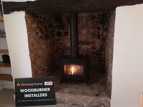 Tiverton, wood burning stove installation