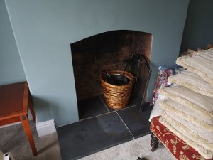 Taunton wood stove installation.