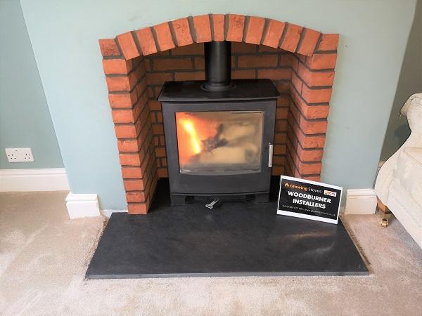 Wood burner stove installation in Taunton, Somerset.