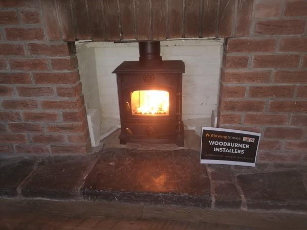 Beldray multi fuel stove installation in Burrowbridge, Bridgwater.