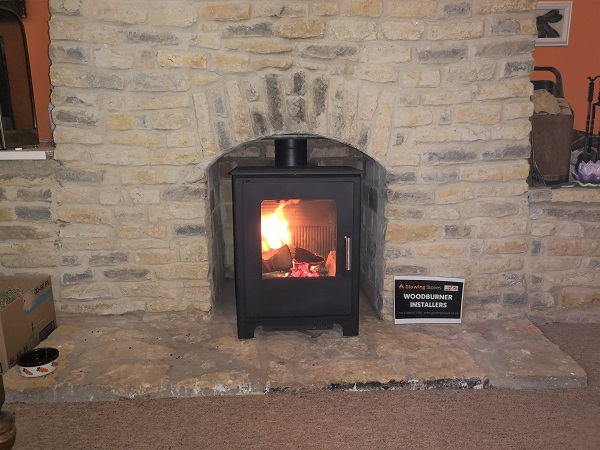 Woodburner stove installation in Bishops Lydeard, Somerset.