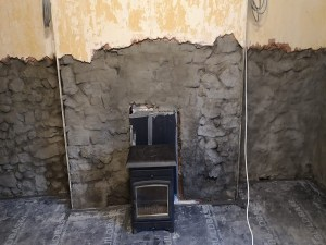 The fireplace in Culmstock before renovation