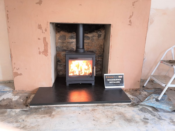 Fireplace renovations and wood burner in Culmstock, Devon.