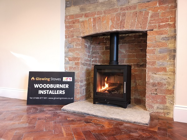 Wood burning stove installation in Langport, Somerset.