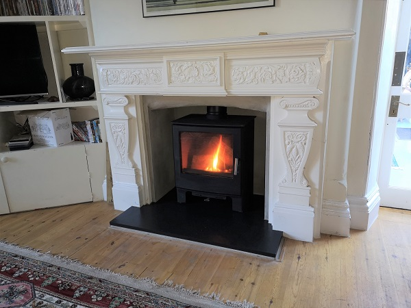 Multi fuel stove installation in Taunton, Somerset.