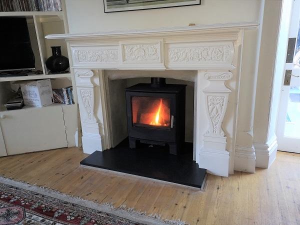 Multi fuel stove installation in Taunton, Somerset.