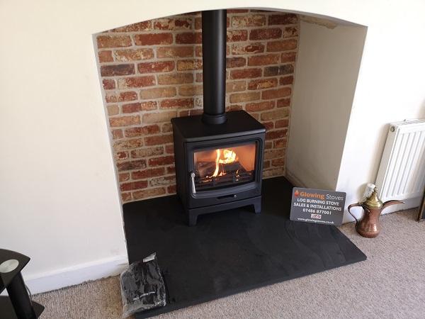 Log burner installation in Ilminster, Somerset