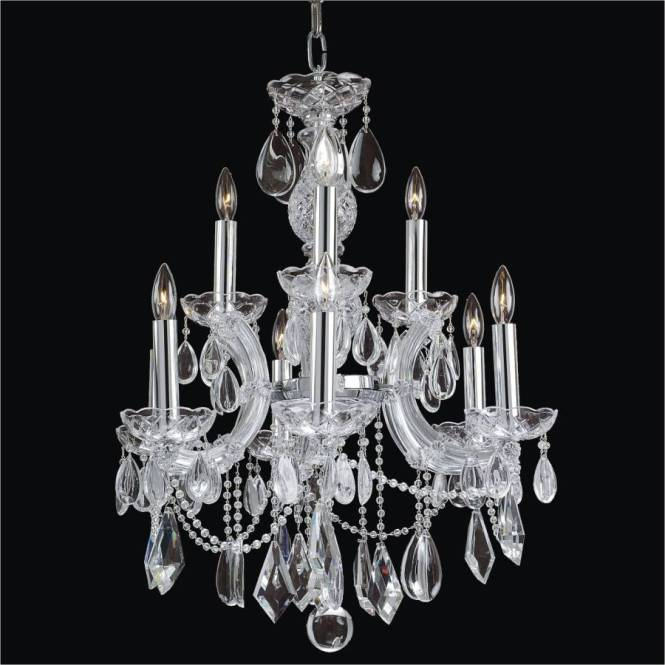 Maria Theresa Smooth Crystal Chandelier 561a By Glow Lighting