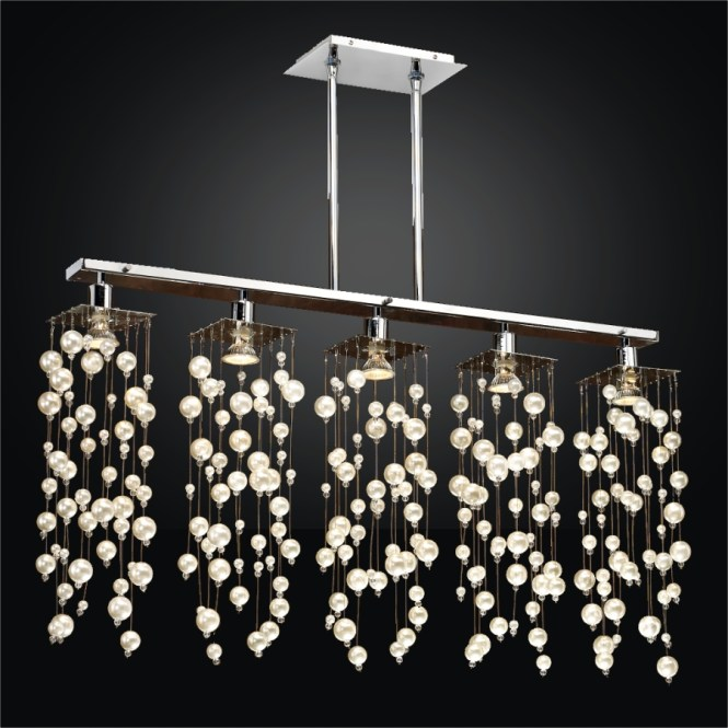 Linear Pendant Chandelier Beaded Chelsea 645